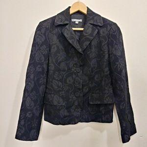 Ann Taylor Black floral blazer